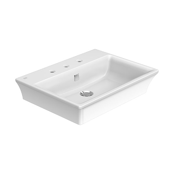 KASTELLO 3-Hole Vessel Wash Basin (8″ hole)